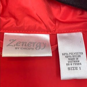 Chicos  Zenergy deep coral /red jacket size 1